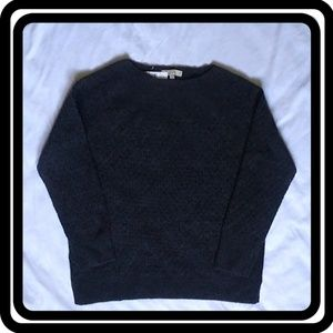 "NWT LOFT Charcoal Gray ""Stitchy"" Boatneck Sweater"